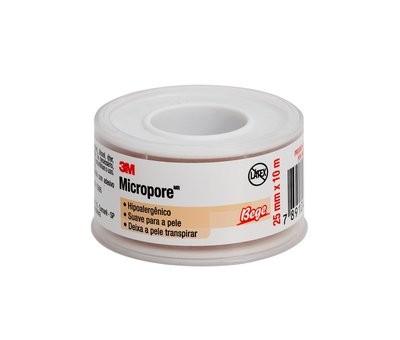 Fita Microporosa 3M Micropore - BEGE 2,5cm x 10m