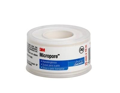 Fita Microporosa 3M Micropore - BRANCA 2,5cm X 10m