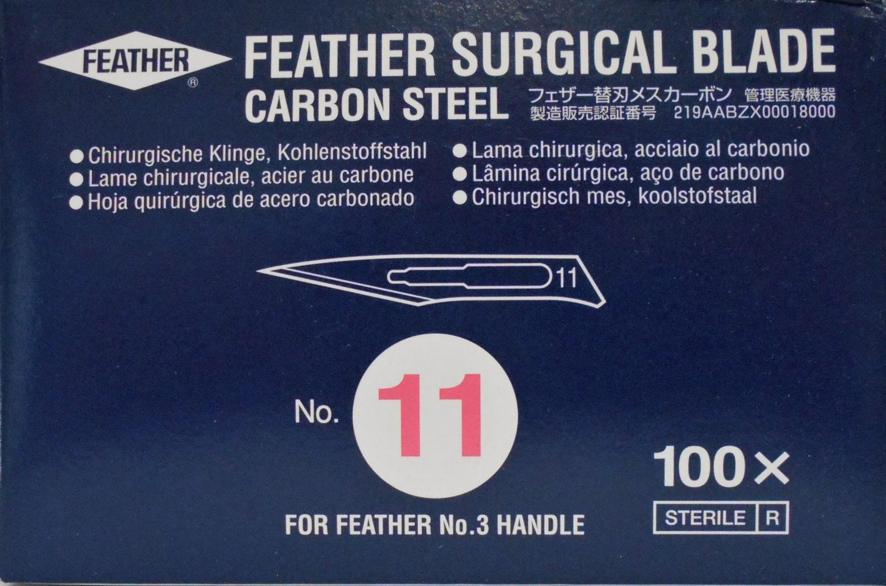 Lâmina de Bisturi nº11 Feather c/100