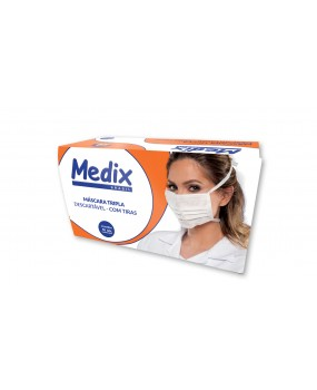 Máscara tripla c/Tiras Medix c/50