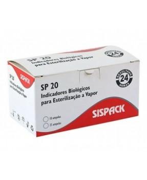 Indicador Biológico p/ esterilização a Vapor SP20 c/10 SISPACK