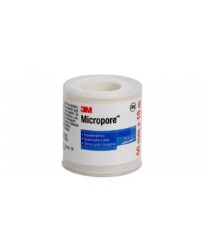 Fita Microporosa 3M Micropore - BRANCA 5,0cm X 10m