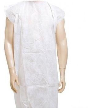 Avental Sem Manga Branco Paciente Gr.20 em TNT c/10