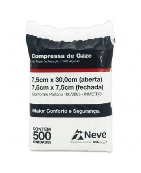 Compressa de Gaze Neve 13 Fios c/500 unid.