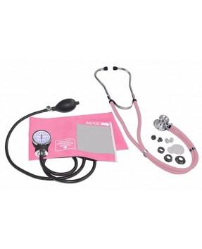 Kit Rosa Estetoscopio Rappaport C/ Esfigmomanômetro Premium