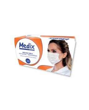 Máscara Tripla c/elástico MEDIX c/50